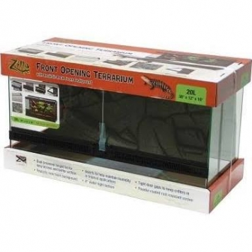 Glass Zilla Front Open Terrarium 20L/30X12X16